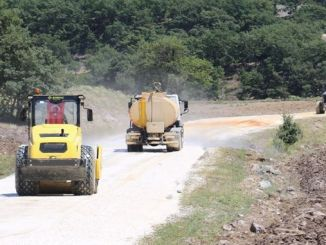 road construction works continue in eskisehir countryside