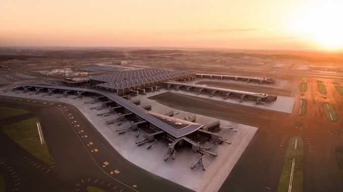 Istanbul Airport is de start- en landingsbaan
