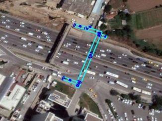 goztepe pedestrian bridge in Istanbul is renewing
