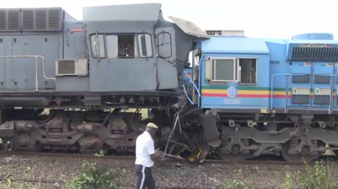 Kollisionen af to tog i Congo