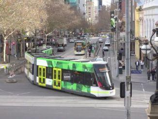 el tranvía de Melbourne funciona completamente con energía solar