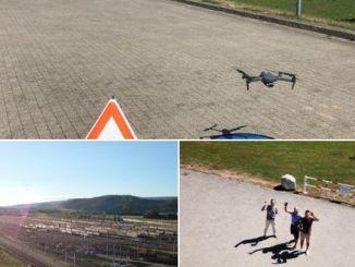 nhân viên nhóm đường sắt romberg sersa được đào tạo drone
