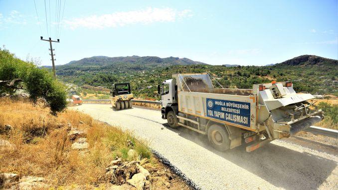 cold asphalt road asphalt works completed