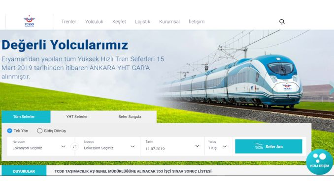 tcdd tasimacilik website erneuert