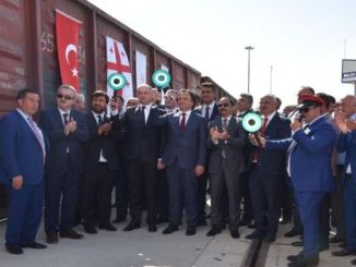 The first train between exports turkey and Georgia appeared on the road