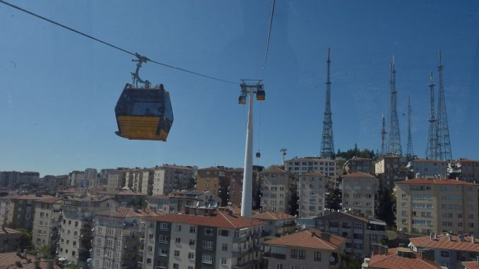 yenimahalle sentepe cable car maintenance work