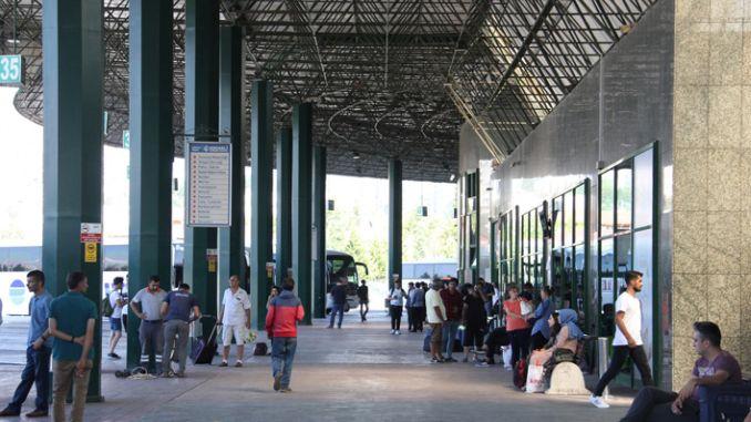 Kocaeli sehirlerarasi Otobüs Terminali Bayramda Bin Ziyaretciyi Agirladi