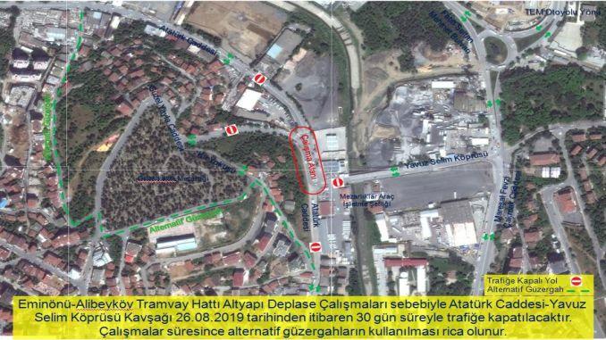 Изместването на инфраструктурата ще бъде направено за трамвай в alibeykoy