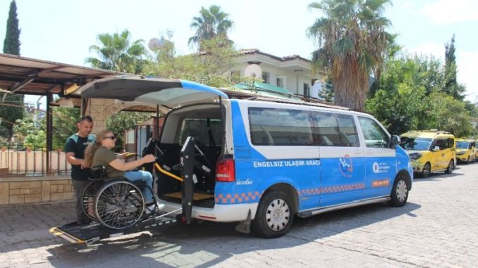 antalya big city provides transportation support for the disabled