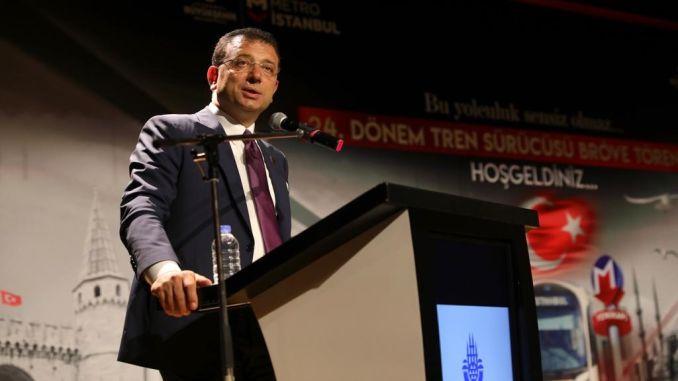 имамоглу президент Стамбул тұрғындарына көлік сағатын берді