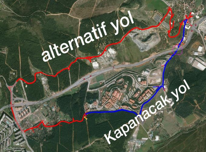 Alternative road to buyukyali samandira