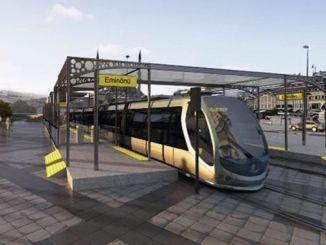 Eminonu Alibeykoy Straßenbahnlinie wird geöffnet, wenn der Dienst
