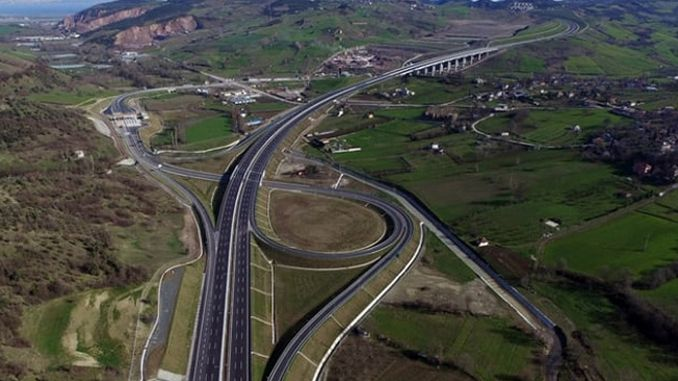 gebze orhangazi izmir motorway balikesir junction እና akhisar junction