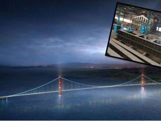 Beginn der Herstellung der Tragstruktur der Karcel Canakkale Brücke