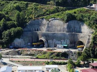 broken tunnel to reduce the distance between rize erzurum