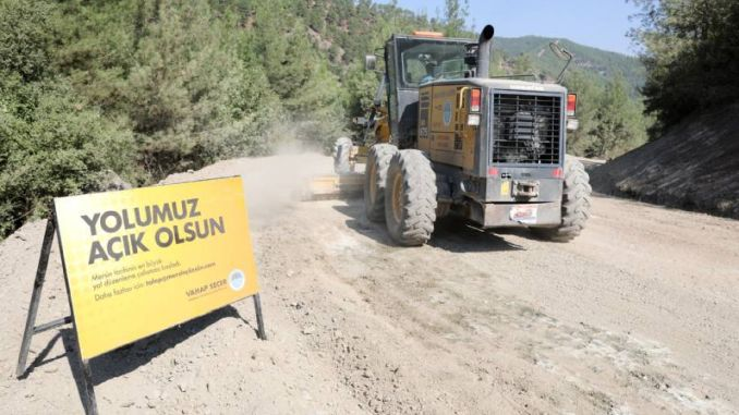 asphalt move in the Taurus Mountains