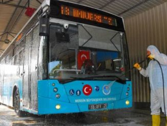 cleaning of municipal buses in Mersin