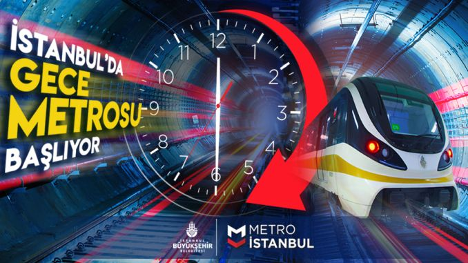 metro istanbul's night time starts so how security will be provided night metro fees will be how