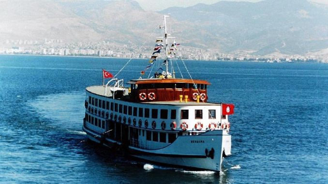 nostalgia ferry departs from izmir corfez
