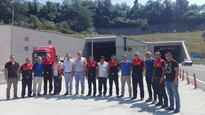 emergency training in tunnels