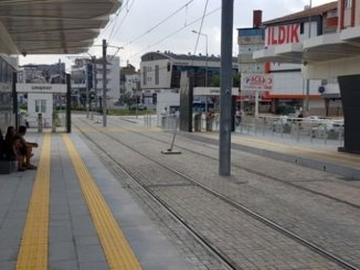 where we will sit at the bus station tram stops