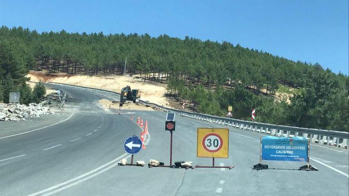 Yediduyular和通往bertize的道路正在修复