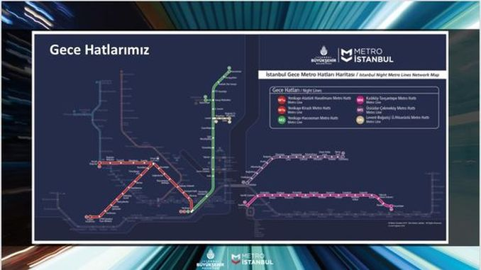 Which metro lines in Istanbul