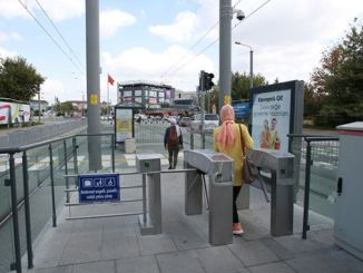 new turnstile to captain station of akcarayin yahya