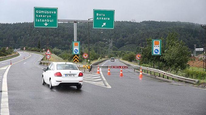 trabajos de renovación en la autopista anatolia