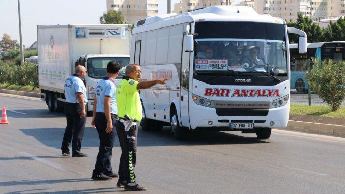 vehículos de transporte masivo en antalya auditados