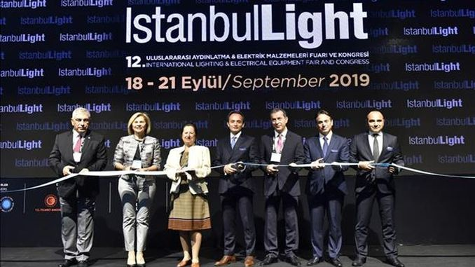 istanbullight fair and congress bringing together the lighting sector was opened to visit