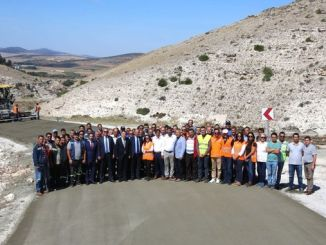 kilometer concrete road completed in eskisehir