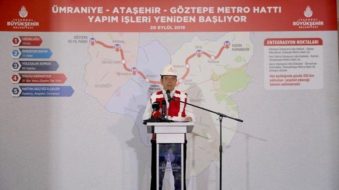 goztepe umraniye metro line works restarted