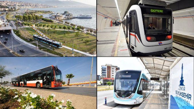 o transporte público comeza en Izmir