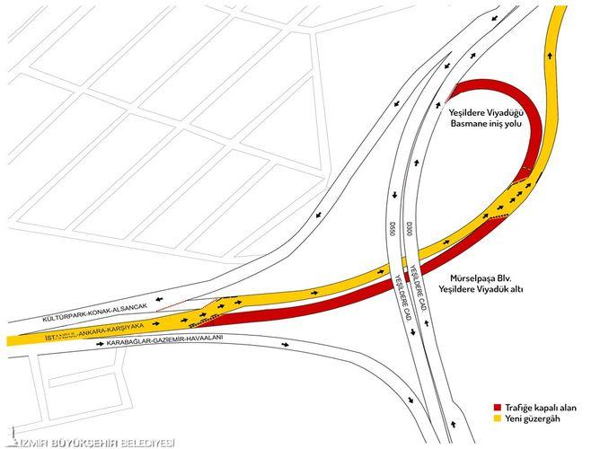 murselpasa bulvarı trafik axını dəyişdirir diqqət