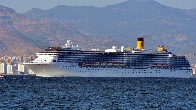 cruise ships freezing back to izmire