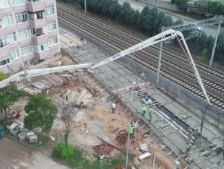 kurucesme weaving rail concretes on tram line