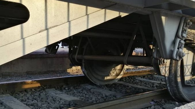 railroad wagons derailed in Mersin