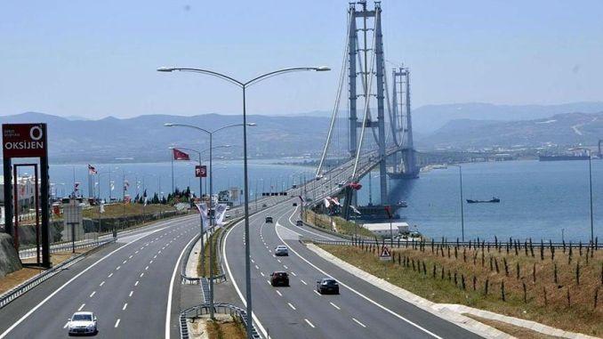 osmangazi bridges half of the year guaranteed vehicles