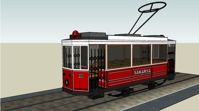 sakaryada bulvardan millet bahcesine nostaljik tramvay