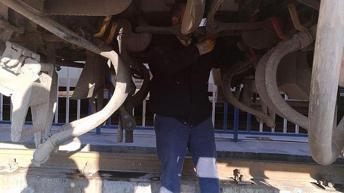 pozornost na tehničare vagona koji su dodijeljeni prijevozu tcdd