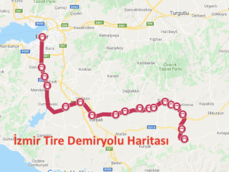 Izmir Tire Train Map