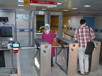 período de raios x no metro Ankara