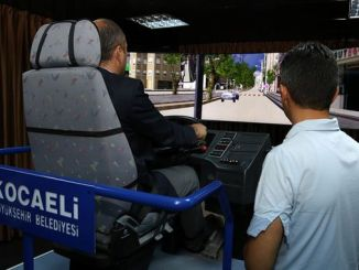 realistic training for public transport drivers with moving bus simulator