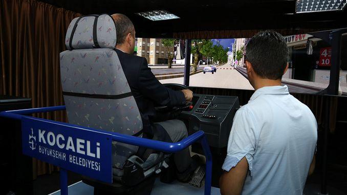 hareketli otobus simulatoru ile toplu tasima suruculerine gercekci egitim