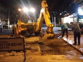 izmitte night asphalt gunduz pavement work