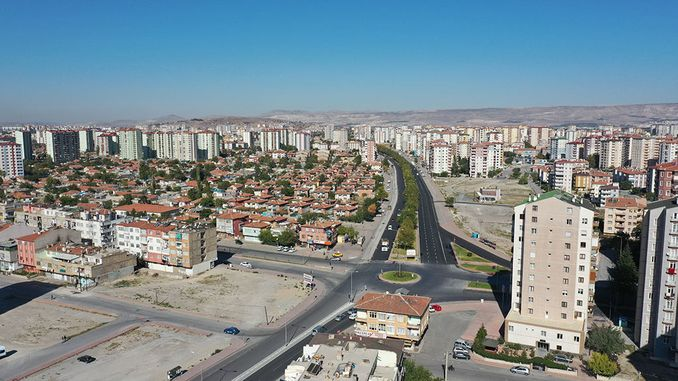 kayseri large city works for comfortable transportation
