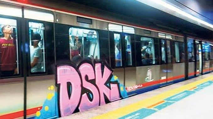 graffiti cleaning will be done in marmaray sets