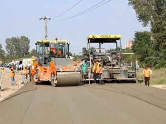 military compacted concrete road application started