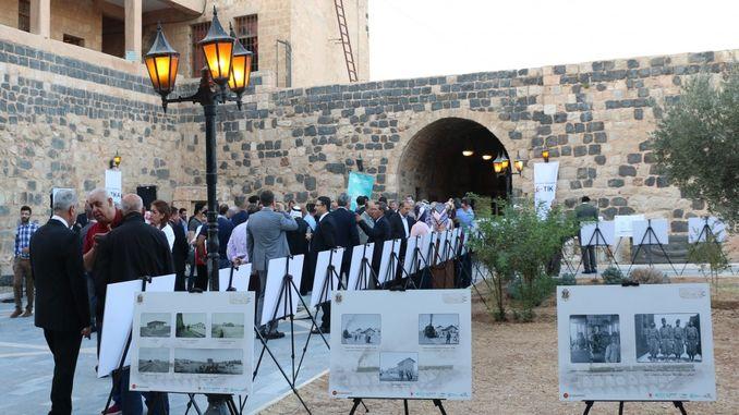 ιστορική έκθεση σιδηροδρόμων hejaz στο urdunde με ανοιχτά έγγραφα